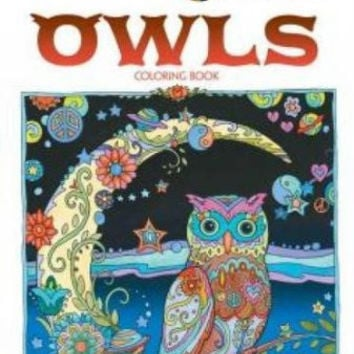 Adult Coloring Book: OWLS