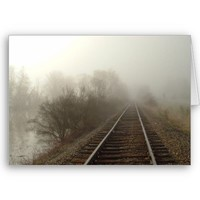 Foggy Tracks Greeting Card from Zazzle.com