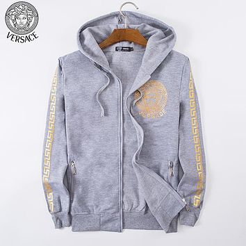 Boys & Men Versace Fashion Casual Cardigan Jacket Coat Hoodie