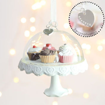 Personalised Cake Stand Hanging Decoration