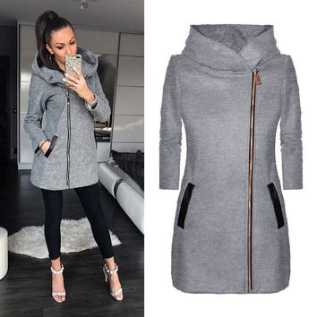 TEMOFON Autumn Women Jacket Coat Hooded Cotton Veste Femme Zipper Long Riverdale Jacket Casual Bomber Fashion Jackets ELD1185