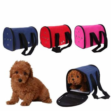 S/L Dog Bag Carring Bags For Dogs Pet Carriers Dog Bags Travel Pet Corduroy Colorful Cat Carrier Bag Soft 1.5-4kg Fitable Weight