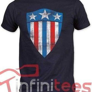 Captain America First Shield Marvel Adult T-Shirt