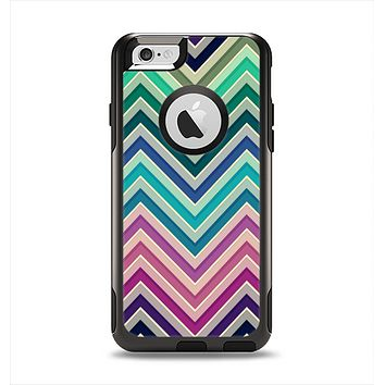 The Vibrant Colored Chevron Layered V4 Apple iPhone 6 Otterbox Commuter Case Skin Set