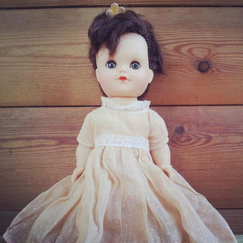 Rare Vintage Doll EEGEE 1950s -  Lil Susan Walker Doll - Vinyl Doll - Hard Plastic Doll - Sleep Eyes Doll - 1950's Fashion Doll
