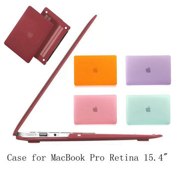 For MacBook Pro Retina 15.4inch Matte Rubberized Hard Case Cover for Laptop Macbook Skidproof Shell Cover Hot colors
