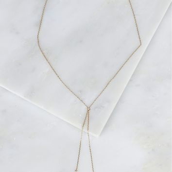 Double Drop Necklace Gold