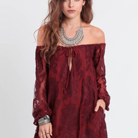 Sangria Lace Dress By For Love & Lemons