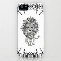 *** Black & White TRIBAL LION *** iPhone Case by M✿nika  Strigel | Society6 for iphone 5 + 4 + 4 S + 3 G + 3 GS + skins ipod touc