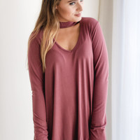 Highland Mock Neck Top | Rust