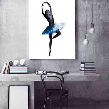 Ballerina art print, modern wall decor, contemporary wall art, scandinavian art, digital print, poster art, wall decor print, interior decor