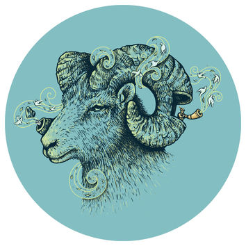 Enkel Dika's Big Horn Invocation Circle Decal