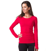 Strength Bamboo Long Sleeve T-shirt - Red