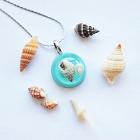 Mini Nautical Necklace Turquoise Jewelry by NaturalPrettyThings