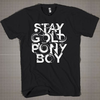 STAY GOLD PONY BOY  Mens and Women T-Shirt Available Color Black And White