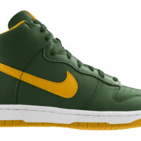 Nike Dunk High NFL Green Bay Packers iD Custom Men's Shoes - Green