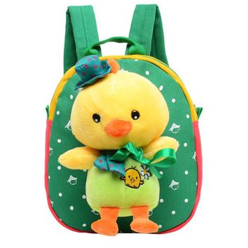 Children Animal Duck School Bags Backpack for Boys and Girls Lovely Kindergarten Backpack Kids Schoolbag Mochila Infantil
