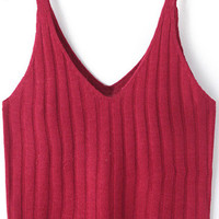 Burgundy Crop Top