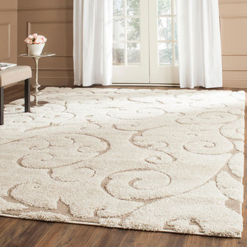 Safavieh Ultimate Cream/Beige Power-Loomed Shag Rug (8' x 10')   Overstock.com Shopping - The Best Deals on 7x9 - 10x14 Rugs