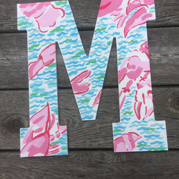 Lilly Pulitzer Inspired Lobstah Roll Letter