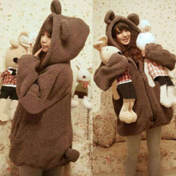 Cute Rabbit Bear Soft Warm Jacket Tops [9357762244]
