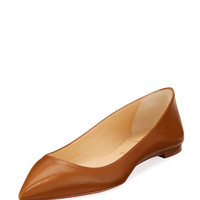 Christian Louboutin Ballalla Smooth Leather Red Sole Ballerina Flat