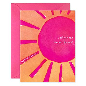 Round the Sun Birthday Card