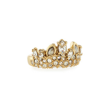 Navette Crystal Studded Band Ring - Alexis Bittar