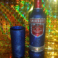 70cl Glittered Smirnoff Vodka & Glitter Tumbler