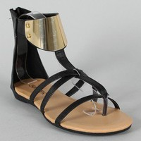 Bumper Lory-56 Strappy Gladiator Thong Flat Sandal (available in Camel, Corral & White.)