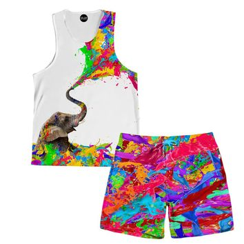 Lucky Paint Tank And Shorts Rave Outfit