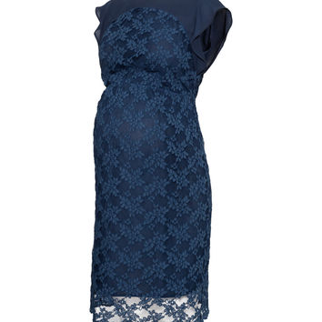 H&M - MAMA Lace Dress - Dark blue - Ladies