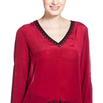 Plenty by Tracy Reese Embroidered Top