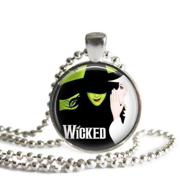 Wicked Broadway Musical Silver Plated Pendant Necklace or Keychain
