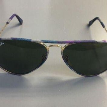 Kalete Ray-Ban Aviator RB3025JM 172 58mm Multicolor Camo/Gold Sunglasses - 170.00