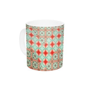"Catherine McDonald ""Traveling Caravan"" Red Pattern Ceramic Coffee Mug"