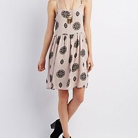 STRAPPY PRINTED BABYDOLL DRESS