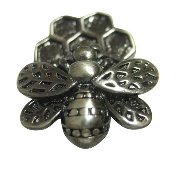 Bee and Bee Hive Pendant Magnet