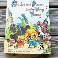 1973 Stories and Poems for the Very Young, A Golden Book Stories & Poems For The Very Young, Vintage Nursery Rhymes Book, Children's Stories