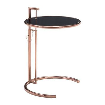Eileen Grey Table Rose Gold Brushed Stainless Steel
