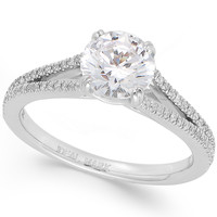 Diamond Split Band Engagement Ring in Platinum (1-3/4 ct. t.w.)