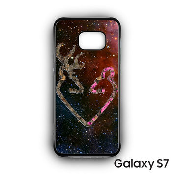 Browning Style Heart Buck Doe Deer Sticker Decal Duck Hunting for Samsung Galaxy S7 phonecases