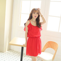 Spaghetti Strap Chiffon Dress