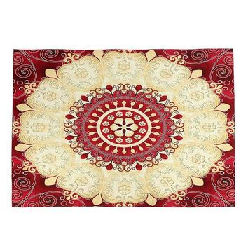 1pc Indian Mandala Tapestry Sandy Beach Towel Throw Yaga Mat Rug Blanket Wall Hanging Bedspread Travel Mattress Sleeping Pad