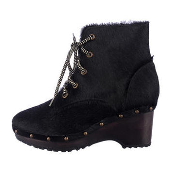 Opening Ceremony Pony Hair Ankle Boots
