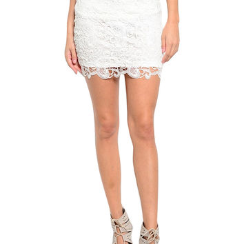 Dressy Crochet Lace Pencil Skirt