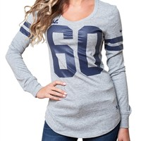 Dallas Cowboys Womens Long Sleeve Varsity Top | SportyThreads.com