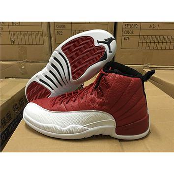 "Air Jordan 12 ""Gym Red"" Basketball Shoes"