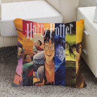 harry potter books Pillow case size 16 x 16, 18 x 18, 16 x 24, 20 x 30, 20 x 26 One side and Two side
