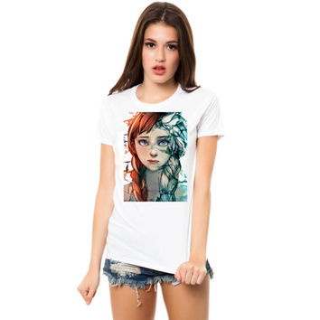 disney frozen  fan art women tshirt ----- size S,M,L,XL,2L,3XL
